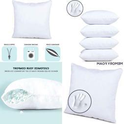 Milliard 18x18 Pillow Inserts Shredded Memory Foam Cushion F