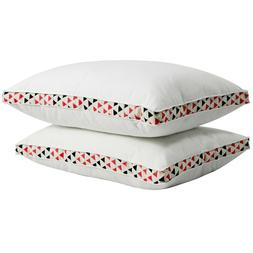 """Puredown 2 Pack 1.5"""" Gusseted Polyester Bed Pillows Firm Sup"""