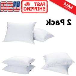 2-Pack Hotel Home Luxury Bed Pillows Goose Down Feather Extr