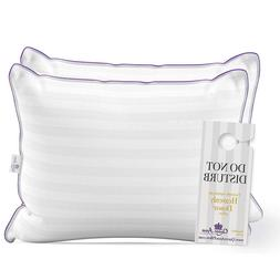 2 Pack Luxury Hotel Pillows - Majesty Down Hypoallergenic Sy