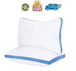 2 Super Firm Pillows Pillow Standard Size Extra Firm Bed Nec