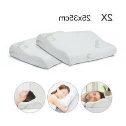 25*35CM Bamboo Memory Foam Contour Pillow Firm Orthopedic Ne