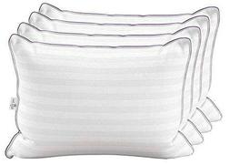 4 Pack Luxury Hotel Pillows - Majesty Down Hypoallergenic Sy