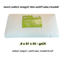 Organic Textiles All Natural Latex Pillow with Organic Cotto