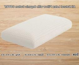 All Natural Latex Pillow with Organic Cotton Cover-Crib,Twin