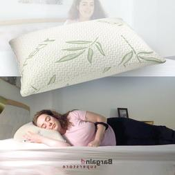 Anti Bacterial Shredded Bamboo Memory Foam Pillow Orthopedic