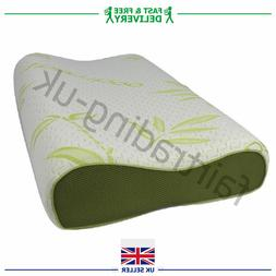 BAMBOO CONTOUR MEMORY FOAM PILLOW ORTHOPAEDIC FIRM HEAD NECK