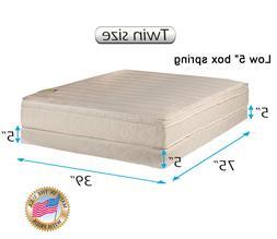 """Comfort Pedic Firm  Pillow Top Mattress & Low 5"""" Height Box"""