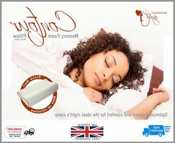 Contour Memory Foam Pillow Orthopaedic Firm Head Neck Suppor