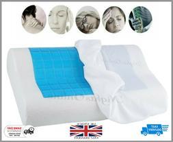 Cool Gel Memory Foam Contour Pillow Pad Orthopaedic Head Nec