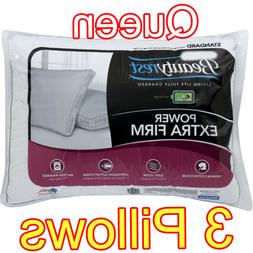 EXTRA FIRM BED PILLOWS LUXURY COMFORT STANDARD QUEEN SIZE BE