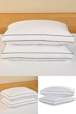 Goose Down King Pillow Customizable Firmness Level Soft Medi