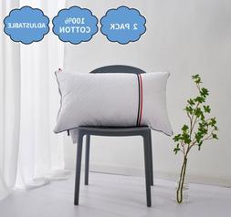 Hotel Quality Pillow 100 percent Cotton Set of 2 Medium Firm