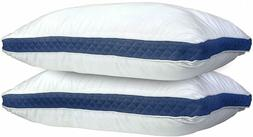 Hypoallergenic Quilted Pillow 2 Pack Queen King Quilted Firm
