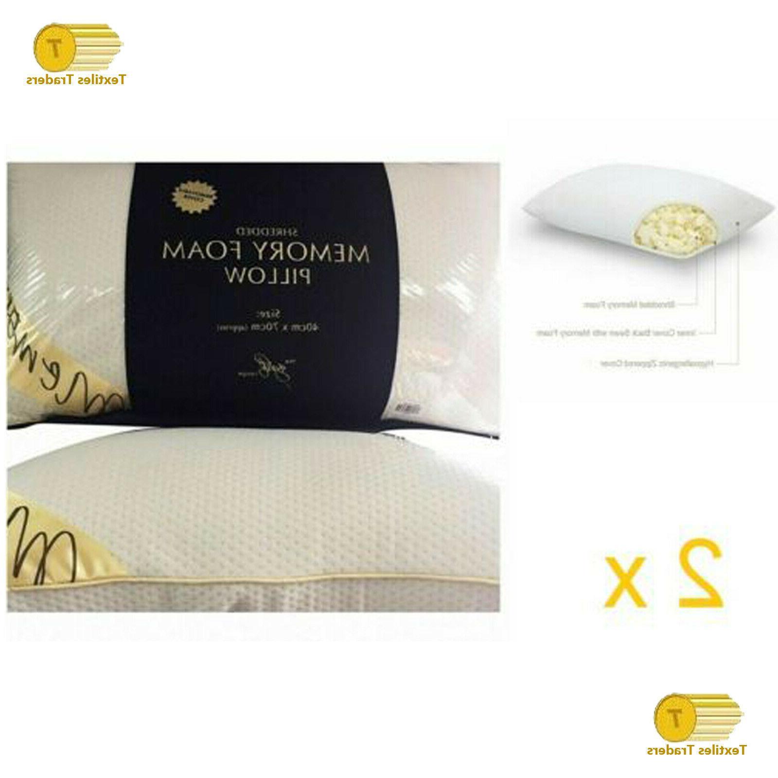 2 x luxury shredded memory foam pillow