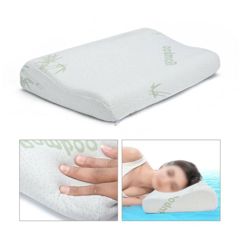 2pcs Memory Foam Contour Orthopedic Neck Sleep