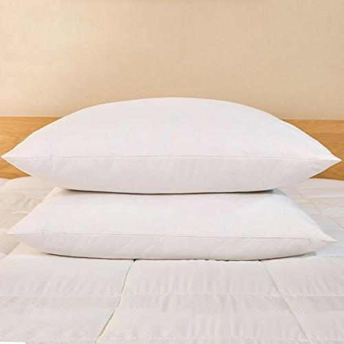 Peace Nest Goose Feather 100% Cover, Cloud Quilted, Standard/Queen