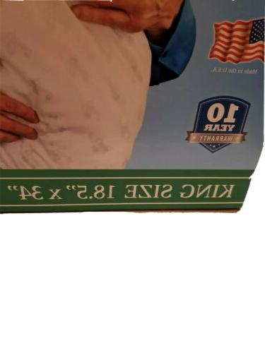 MyPillow inches box.