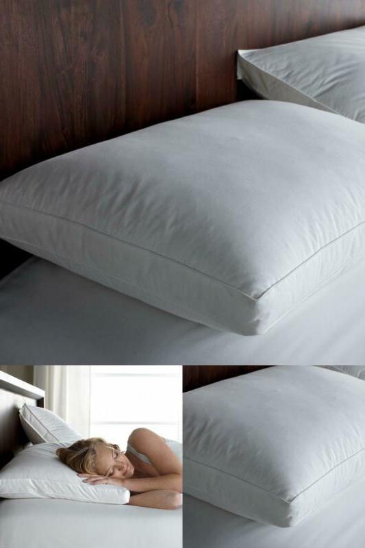 gusseted side sleeper firm down standard pillow