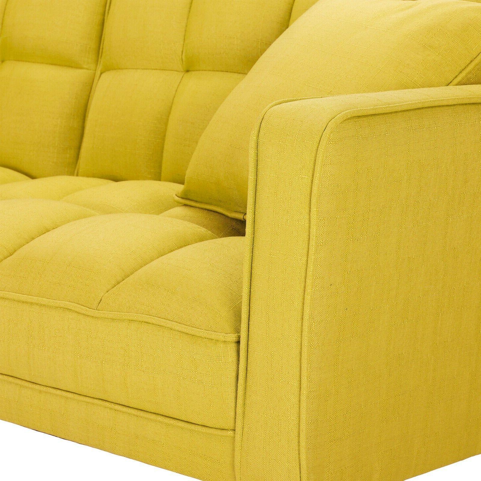 Modern Futon With 2 Pillows Sofa USA