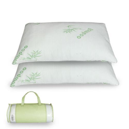 King Size Hypoallergenic Bamboo Fiber Memory Foam Pillow  Fi