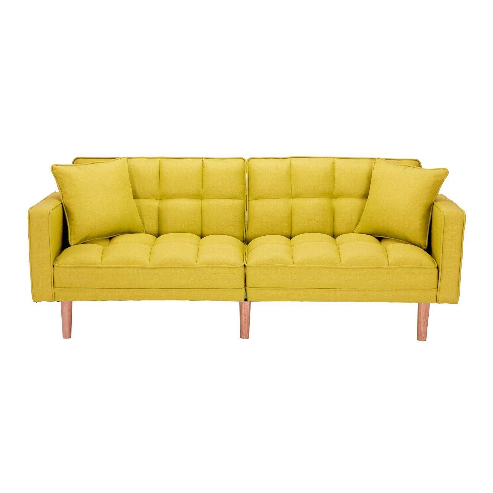 Modern Sofa Sleeper Futon With Pillows Sofa