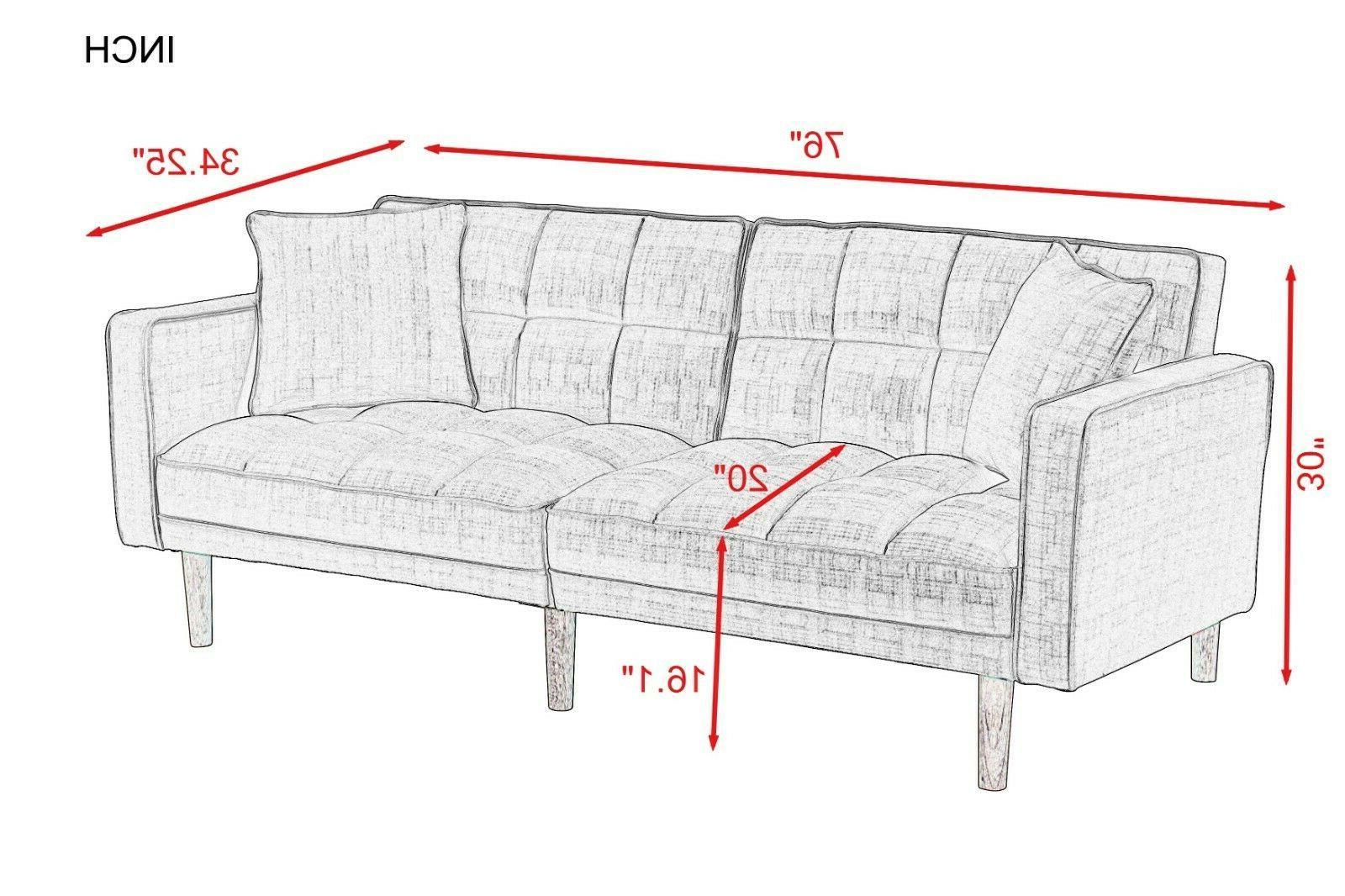 Futon Pillows Lounge Sofa USA