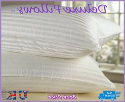 Large BED PILLOW 2 x Jumbo Firm Cheap Extra Fill Large Side