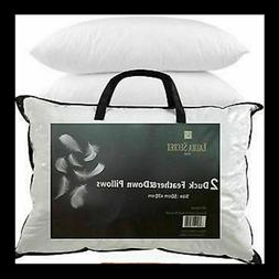 Luxury Duck Feather Pillows - Hotel Quality - Extra Filling