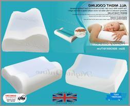 Memory Foam Contour Pillow Cool Gel Pad Orthopaedic Head Nec