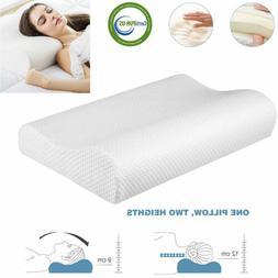 2-Height Adjustable Ergonomic Memory Foam Pillow Orthopedic