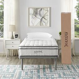 """Modway Ultimate Quilted Pillow Top 10"""" Jenna Twin Innerspr"""