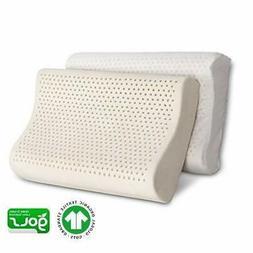 100% Organic Latex Contour Neck Pillow Standard with Organic