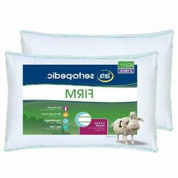 SERTAPEDIC FIRM PILLOWS, SET OF 2, KING SIZE HYPOALLERGENIC