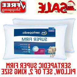Sertapedic Super Firm Pillow, Set Of 2,King Size,Hypoallerge