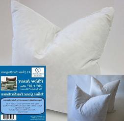 """20"""" x 20"""" 43oz. Pillow Insert: 90/10 White Goose Feather Dow"""