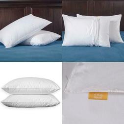 Puredown Duck Down Standard Pillow Customizable Firmness Lev
