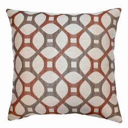 Roxbury Coral Geometric Down 7 In. X 20 In. Throw Pillow Cus