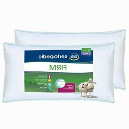 Serta Firm Pillows KING Size 2 Pack Set Slumber Bed Comfort