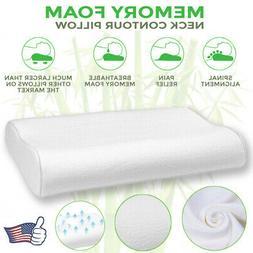 Memory Foam Contour Pillow Firm Orthopedic Neck Sleep Suppor