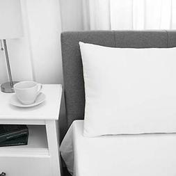 Soft-Tex Firm Density Standard Bed Cotton Cover, White Pillo