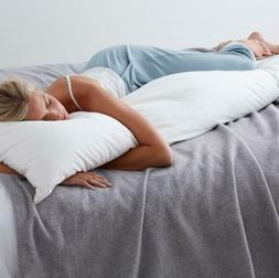 Tcs Down Firm 20 in X 72 in Body Pillow Supportive, Yet Supr