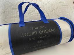 The Best Bamboo Pillow - Memory Foam - Choose Size, Firmness